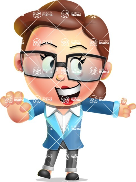 Vector 3D Business Woman Character Design AKA Sharon Blazer - Direct Attention 2