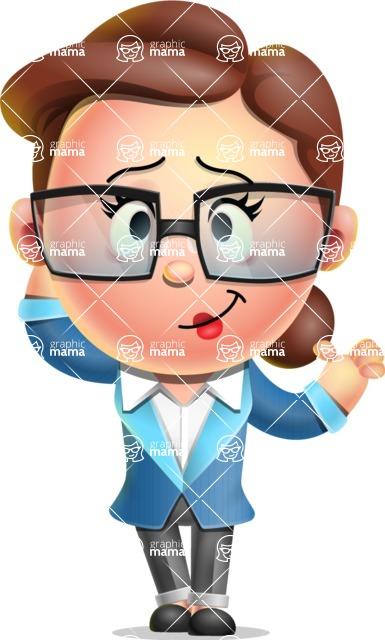 Vector 3D Business Woman Character Design AKA Sharon Blazer - Sorry