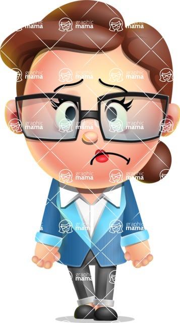 Vector 3D Business Woman Character Design AKA Sharon Blazer - Sad