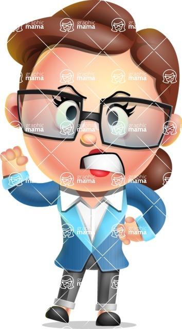 Vector 3D Business Woman Character Design AKA Sharon Blazer - Angry