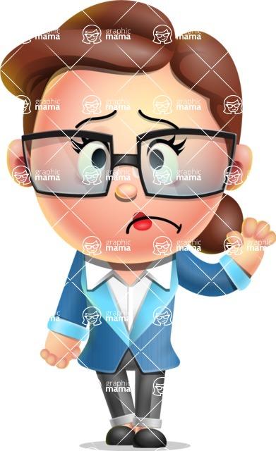 Vector 3D Business Woman Character Design AKA Sharon Blazer - Goodbye