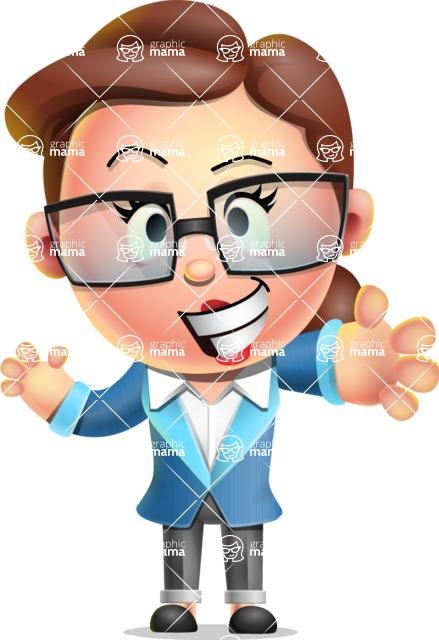 Vector 3D Business Woman Character Design AKA Sharon Blazer - Hello