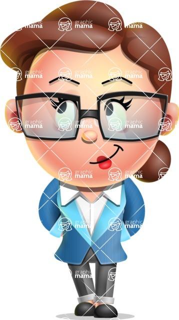 Vector 3D Business Woman Character Design AKA Sharon Blazer - Patient