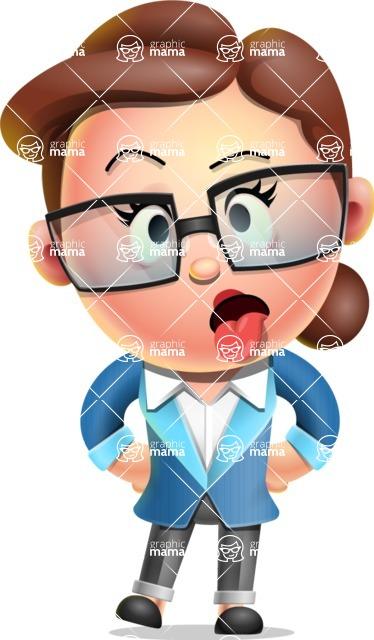 Vector 3D Business Woman Character Design AKA Sharon Blazer - Making Face