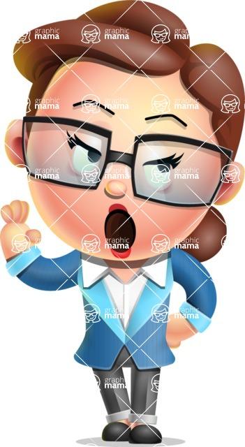 Vector 3D Business Woman Character Design AKA Sharon Blazer - Bored 2