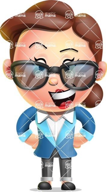 Vector 3D Business Woman Character Design AKA Sharon Blazer - Sunglasses