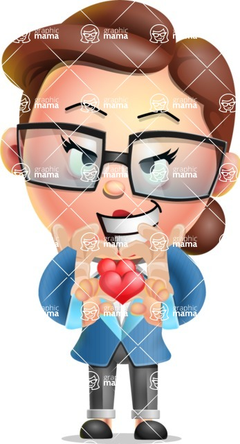 Vector 3D Business Woman Character Design AKA Sharon Blazer - Show Love