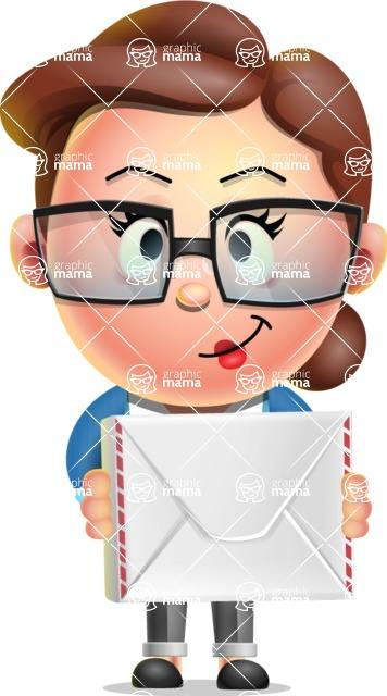 Vector 3D Business Woman Character Design AKA Sharon Blazer - Letter