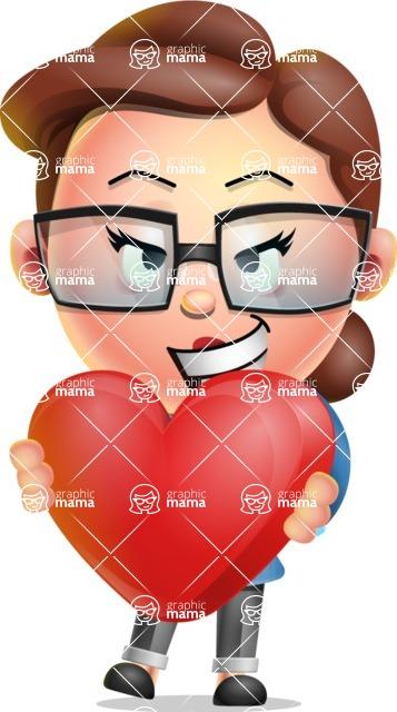 Vector 3D Business Woman Character Design AKA Sharon Blazer - Love