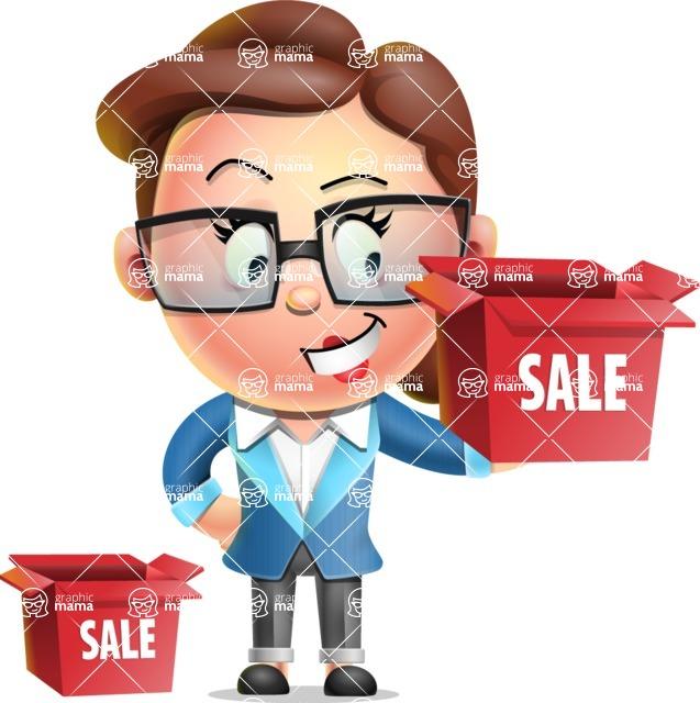Vector 3D Business Woman Character Design AKA Sharon Blazer - Sale