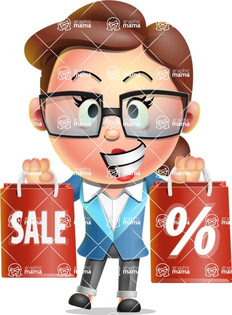 Vector 3D Business Woman Character Design AKA Sharon Blazer - Sale 2
