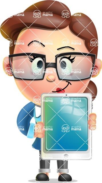 Vector 3D Business Woman Character Design AKA Sharon Blazer - iPad 1