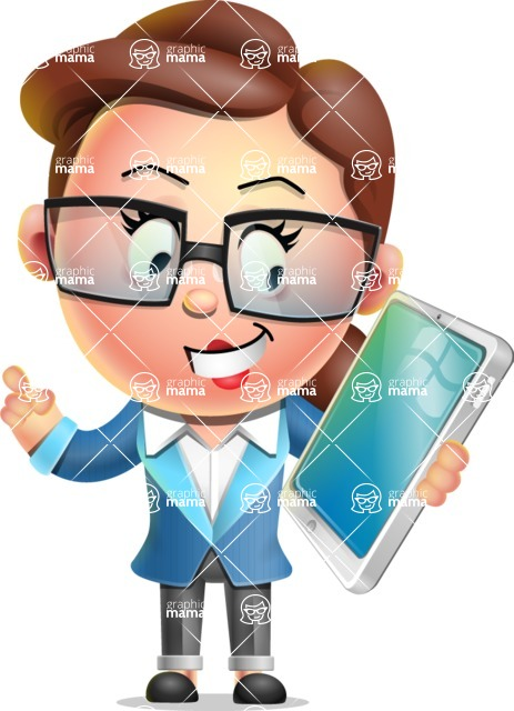 Vector 3D Business Woman Character Design AKA Sharon Blazer - iPad 3