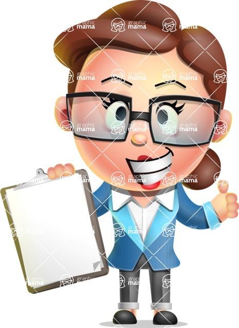 Vector 3D Business Woman Character Design AKA Sharon Blazer - Notepad 1