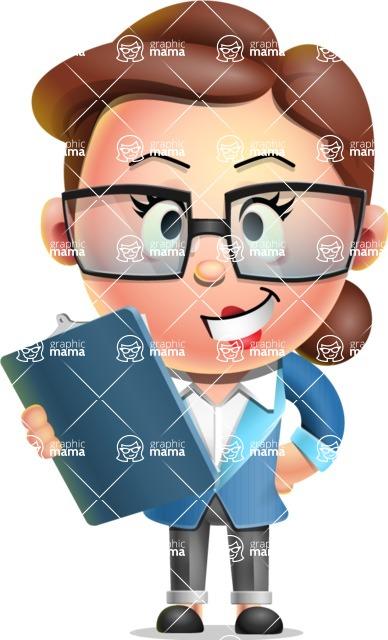 Vector 3D Business Woman Character Design AKA Sharon Blazer - Notepad 2