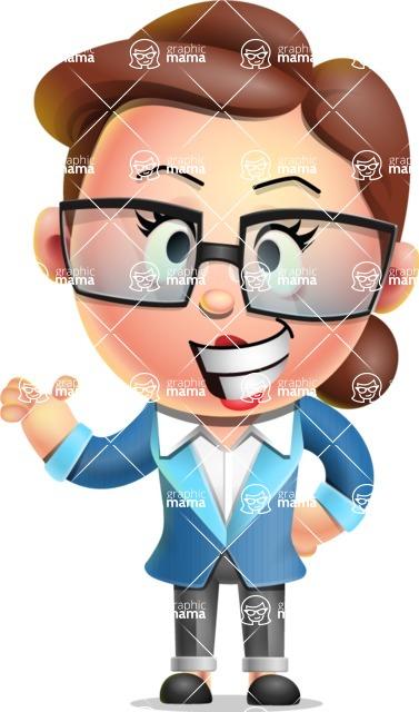 Vector 3D Business Woman Character Design AKA Sharon Blazer - Showcase 2