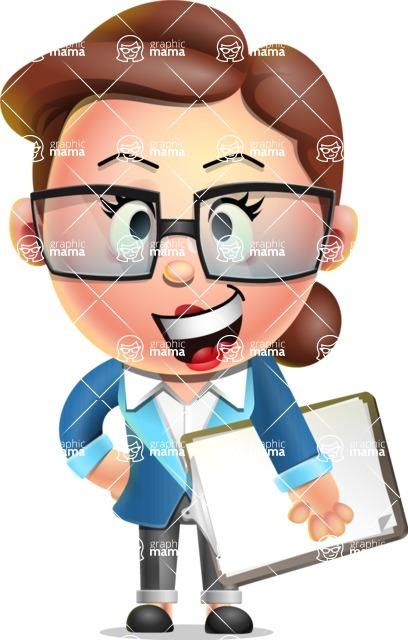 Vector 3D Business Woman Character Design AKA Sharon Blazer - Notepad 4