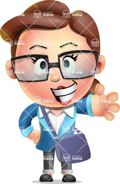 Vector 3D Business Woman Character Design AKA Sharon Blazer - Travel 2