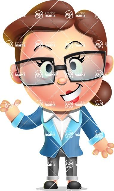 Vector 3D Business Woman Character Design AKA Sharon Blazer - Show