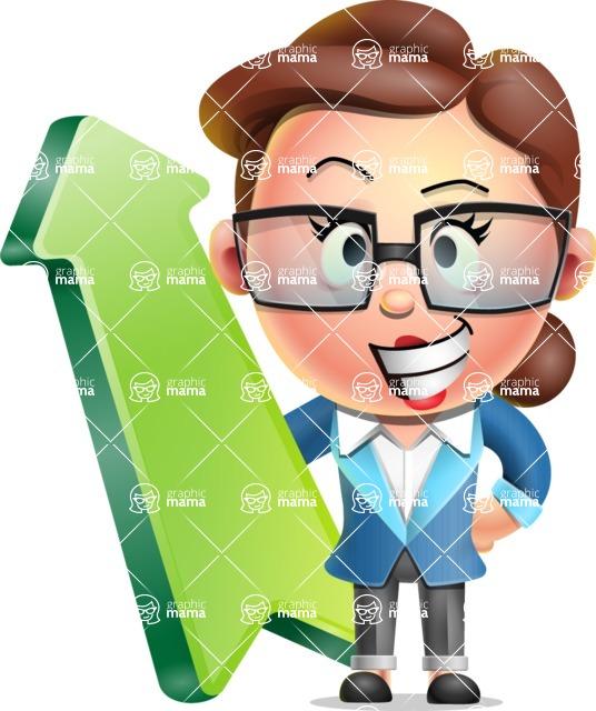 Vector 3D Business Woman Character Design AKA Sharon Blazer - Pointer 1