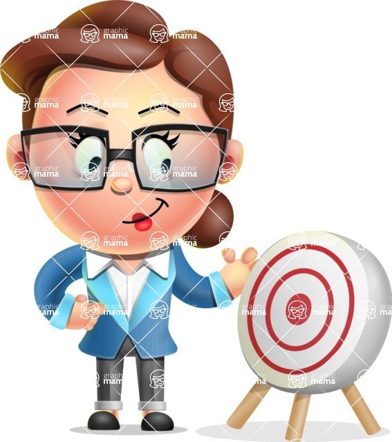 Vector 3D Business Woman Character Design AKA Sharon Blazer - Target