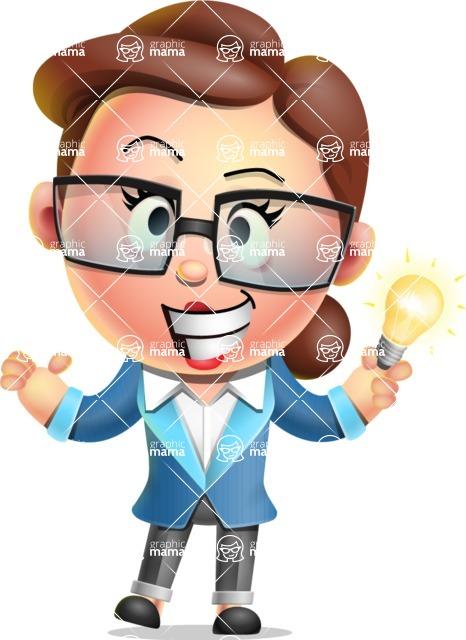 Vector 3D Business Woman Character Design AKA Sharon Blazer - Idea 1