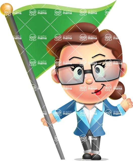 Vector 3D Business Woman Character Design AKA Sharon Blazer - Checkpoint
