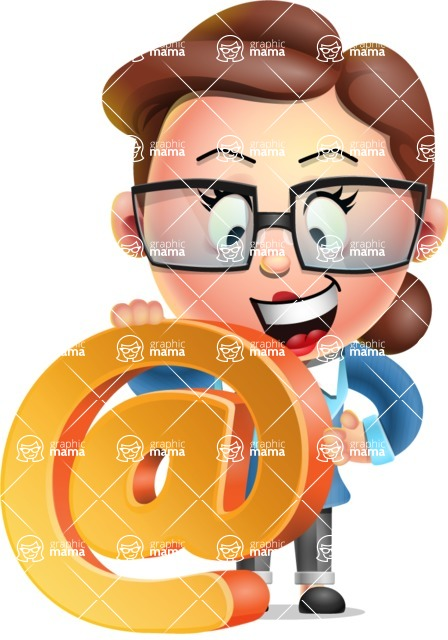 Vector 3D Business Woman Character Design AKA Sharon Blazer - Email