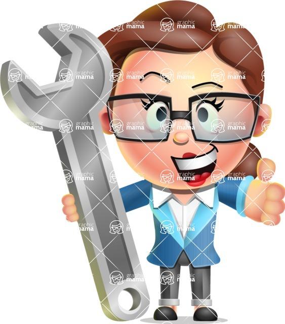 Vector 3D Business Woman Character Design AKA Sharon Blazer - Repair