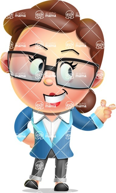Vector 3D Business Woman Character Design AKA Sharon Blazer - Point