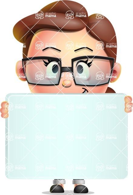 Vector 3D Business Woman Character Design AKA Sharon Blazer - Sign 5