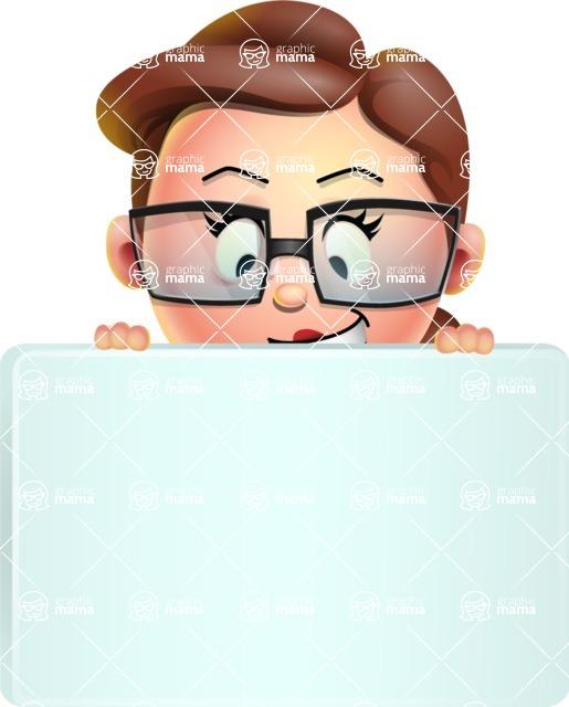 Vector 3D Business Woman Character Design AKA Sharon Blazer - Sign 6
