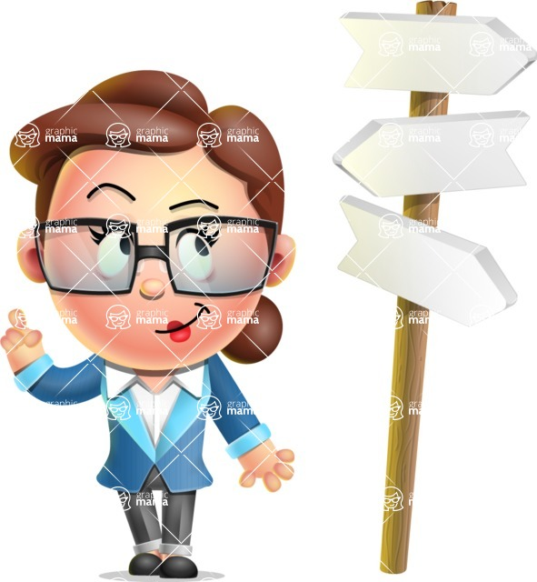 Vector 3D Business Woman Character Design AKA Sharon Blazer - Crossroad