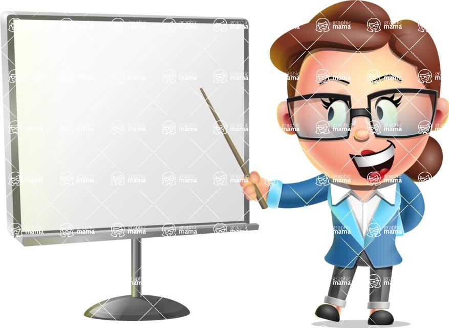 Vector 3D Business Woman Character Design AKA Sharon Blazer - Presentation 2