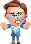 Vector 3D Business Woman Character Design AKA Sharon Blazer - Stop