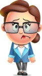 Vector 3D Business Woman Character Design AKA Sharon Blazer - Sad