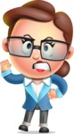 Vector 3D Business Woman Character Design AKA Sharon Blazer - Angry
