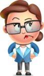 Vector 3D Business Woman Character Design AKA Sharon Blazer - Roll Eyes