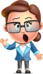 Vector 3D Business Woman Character Design AKA Sharon Blazer - Confused