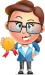 Vector 3D Business Woman Character Design AKA Sharon Blazer - Ribbon