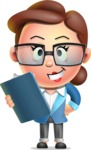 Vector 3D Business Woman Character Design AKA Sharon Blazer - Notepad 2