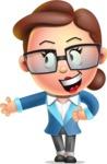 Vector 3D Business Woman Character Design AKA Sharon Blazer - Show 2
