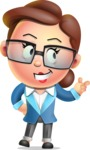 Vector 3D Business Woman Character Design AKA Sharon Blazer - Point