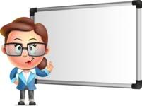 Vector 3D Business Woman Character Design AKA Sharon Blazer - Presentation 3