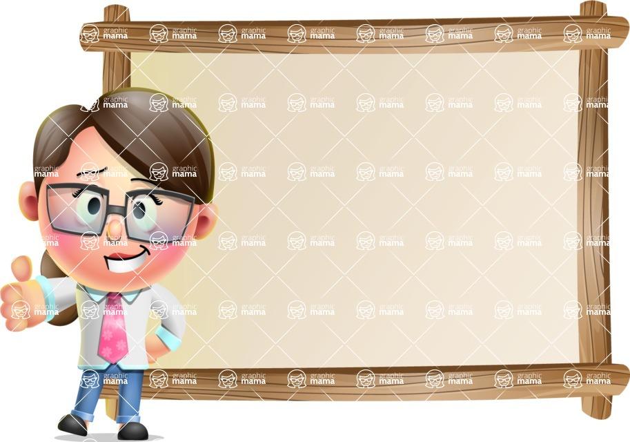 Cute Vector 3D Girl Character Design AKA Samantha PinkTie - Presentation 5