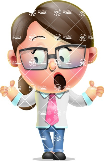 Cute Vector 3D Girl Character Design AKA Samantha PinkTie - Lost