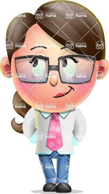 Cute Vector 3D Girl Character Design AKA Samantha PinkTie - Patient