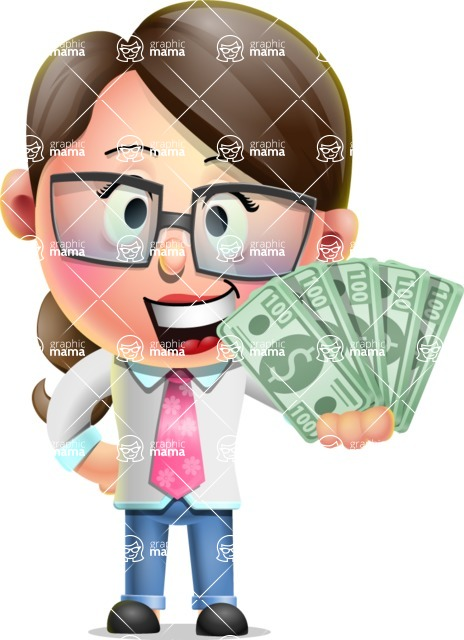 Cute Vector 3D Girl Character Design AKA Samantha PinkTie - Show me  the Money