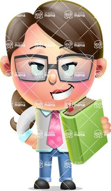 Cute Vector 3D Girl Character Design AKA Samantha PinkTie - Book 3