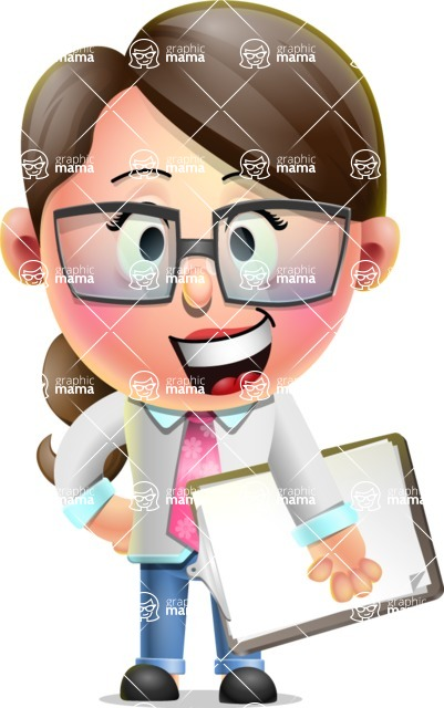 Cute Vector 3D Girl Character Design AKA Samantha PinkTie - Notepad 4